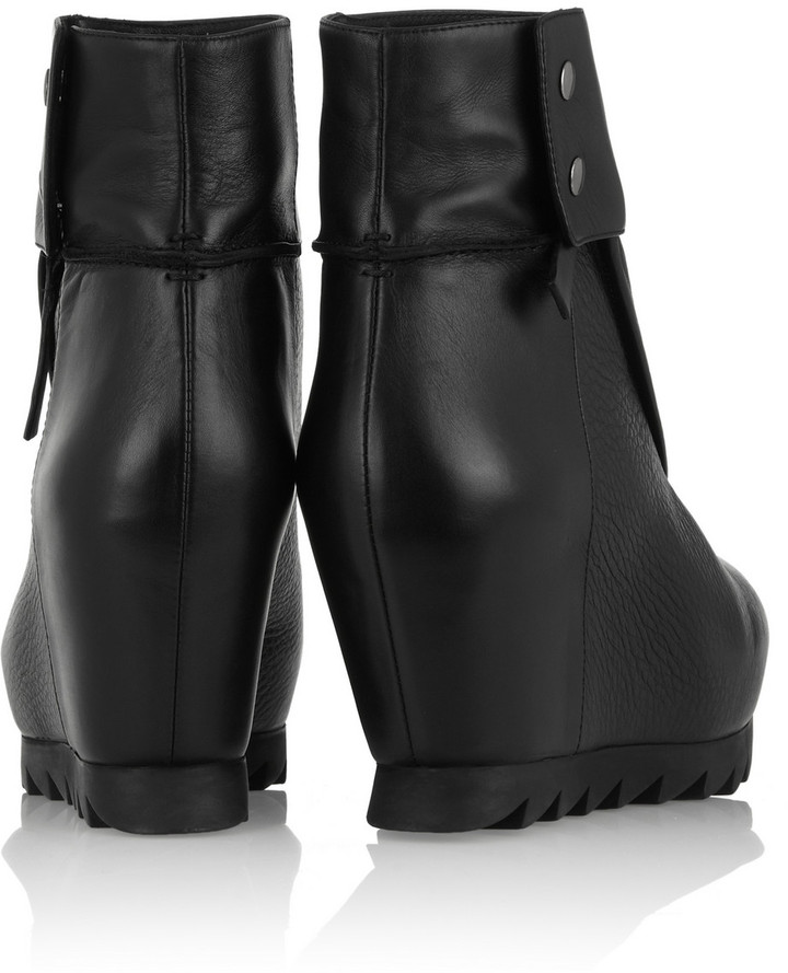 Camilla Skovgaard Leather and textured-leather ankle boots