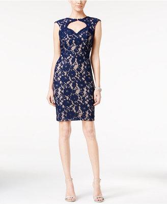 Xscape Open-Back Lace Bodycon Dress $209 thestylecure.com