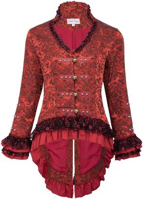 Belle Women's Vintage Steampunk Victorian Tail Coat Tops Corset Style for Party BP223-2 Size M