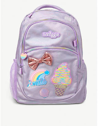 SMIGGLE Holographic woven backpack