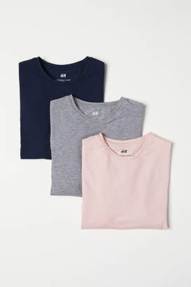 H&M 3-pack Muscle Fit T-shirts - Pink