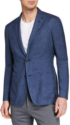 Ermenegildo Zegna Men's Heathered Cashmere-Blend Two-Button Blazer