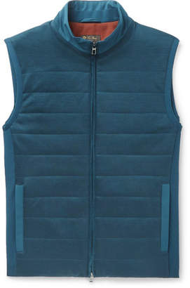 Loro Piana Storm System Quilted Shell And Virgin Wool Gilet