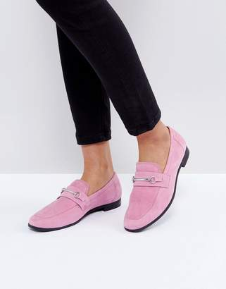 Vagabond Marilyn Loafer In Pink Suede