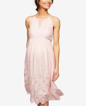 A Pea in the Pod Maternity Laser-Cut Dress