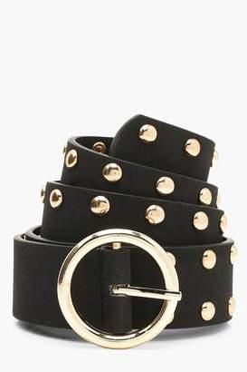 boohoo Studded Circle Buckle Belt