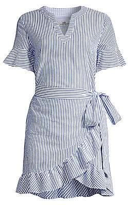Vineyard Vines Women's Stripe Seersucker Wrap Dress