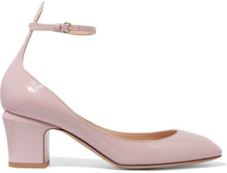 Valentino - Tango Patent-leather Pumps - Baby pink $845 thestylecure.com