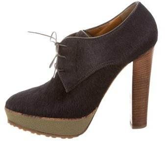 Ralph Lauren Collection Ponyhair Platform Booties