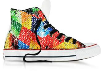 Converse Limited Edition Chuck Taylor All Star High Top Sequins and Canvas Women's Sneakers