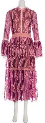 Costarellos 2017 Appliqué Dress