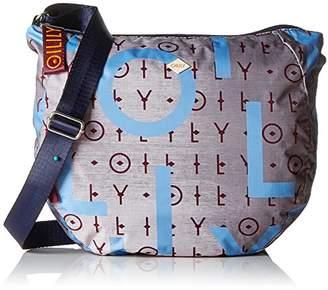 Oilily Groovy Shoulderbag Lhz, Women's Cross-Body Bag, Grau (), 12x32x36 cm (B x H T)