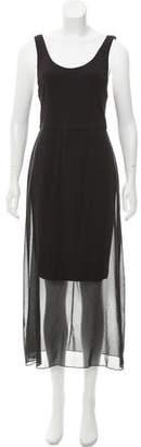 Alice + Olivia Sheer Accented Maxi Dress