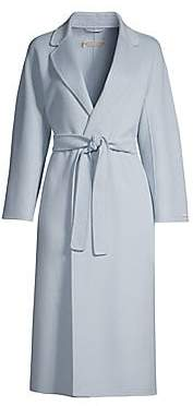 Max Mara Women's Esturia Notch Collar Belted Virgin Wool Wrap Coat