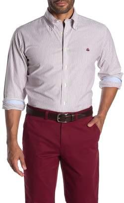Brooks Brothers Brookscool(R) Non-Iron Stretch Stripe Print Regent Fit Oxford Shirt