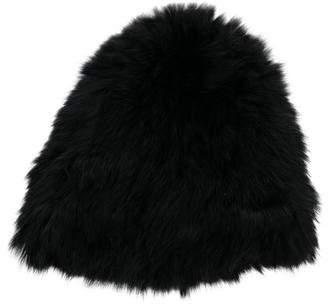 Yves Salomon Knitted Fur Beanie