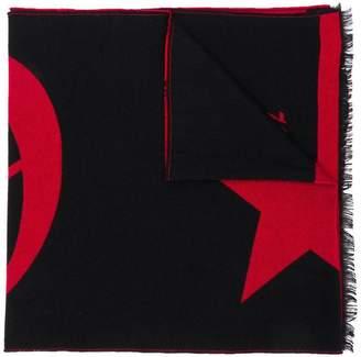 Philipp Plein intarsia logo scarf