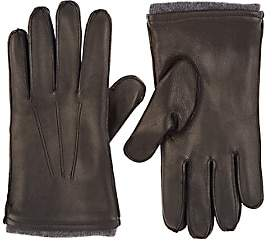 Barneys New York MEN'S LAMBSWOOL-LINED DEERSKIN GLOVES