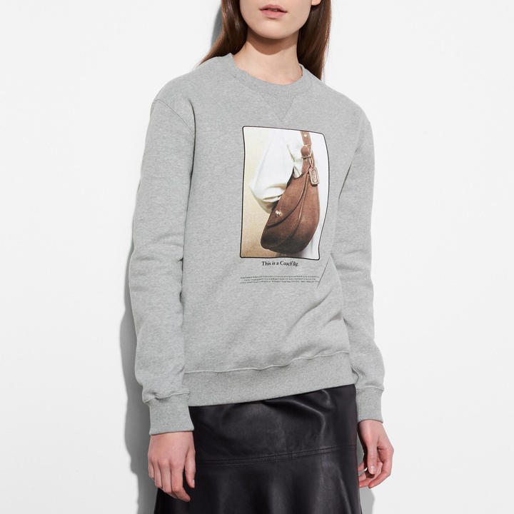 Coach   COACH Coach Sweatshirt With Archive Print