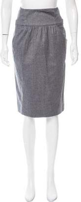 Oscar de la Renta Wool Knee-Length Skirt