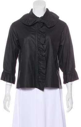 J.W.Anderson Ruffled Leather Top