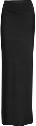 Rick Owens - Stretch-faille Maxi Skirt - Black $555 thestylecure.com