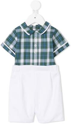 La Stupenderia checked shirt and plain shorts set