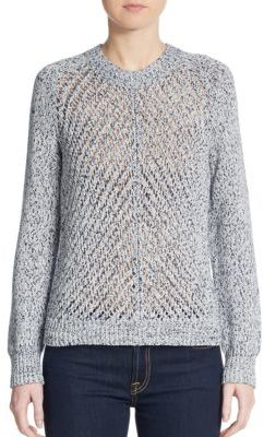 3.1 Phillip LimOpen-Knit Cotton Sweater