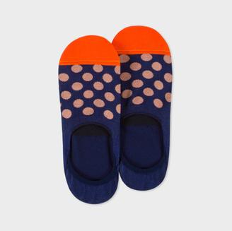 Men's Navy Polka Dot Loafer Socks $20 thestylecure.com