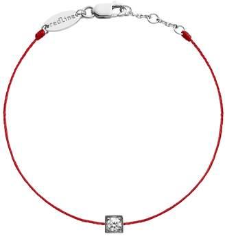 Redline Cube Femme Diamond Red String Bracelet - White Gold