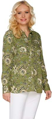 "C. Wonder Classic Floral Print Button Front ""Carrie"" Blouse"