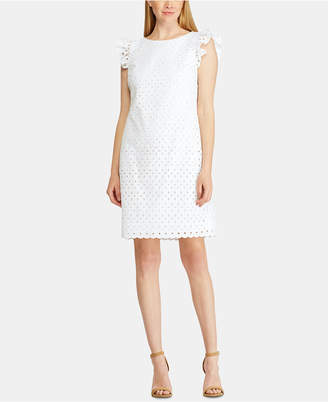 American Living Scalloped Eyelet Embroidery Dress