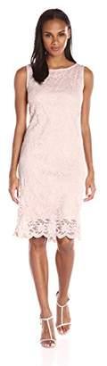 Tiana B Women's Sleeveless Floral Scallop Lace Dress