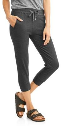 N.Y.L. Sport Women's Athleisure Zip Pocket French Terry Capri Jogger pant