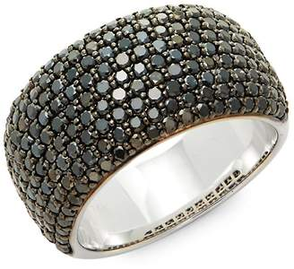 Effy Women's Caviar Diamond, Black Diamond & 14K White Gold Band Ring
