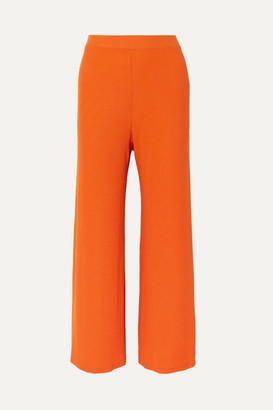 Sid Neigum - Ribbed Stretch-jersey Wide-leg Pants - Orange