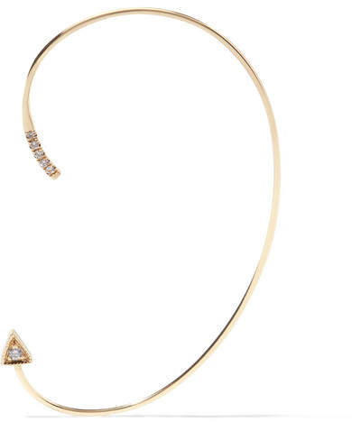 Jennie Kwon Designs - Mini Dagger 14-karat Gold Diamond Ear Cuff