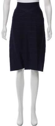 Herve Leger Knee-Length Bandage Skirt