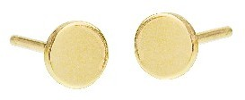 Jennifer Meyer Yellow Gold Circle Studs