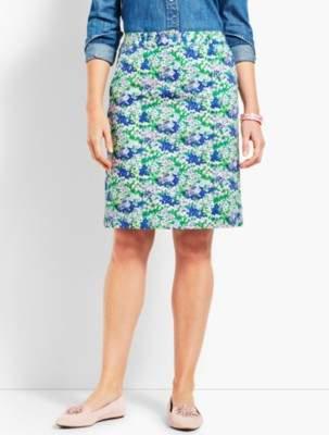 Talbots A-Line Stretch Skirt - Flower Print
