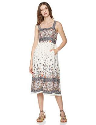 1b137099944 Peace Love Maxi Women s Sleeveless Strap Smocked Crinkle Maxi Dress