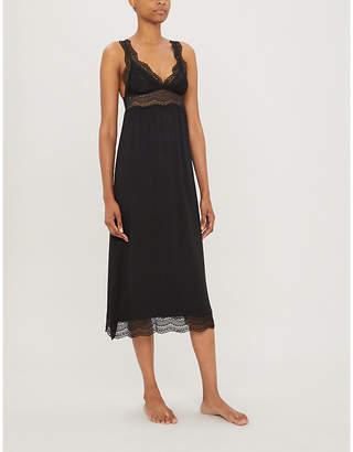 Eberjey Myla lace-trimmed stretch-modal night dress