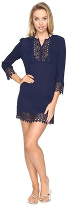 Jantzen - Crochet Trim Tunic Cover-Up Women's Swimwear $68 thestylecure.com