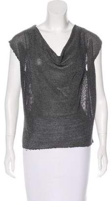 L'Agence Sleeveless Open Knit Top