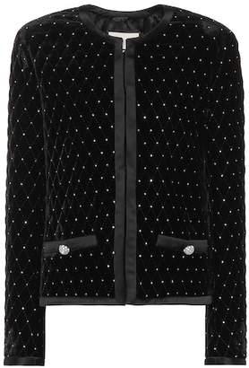 Gucci Embellished velvet jacket