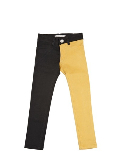 Two Tone Slim Fit Stretch Jeans