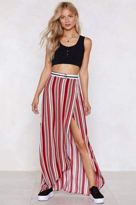 Nasty Gal Stripe in Your Number Maxi Skirt