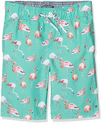 Tommy Hilfiger Boy's Printed Swimshort Swim Shorts,(Size: 16)
