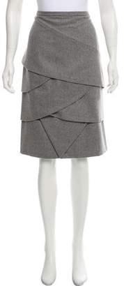 Michael Kors Tiered Wool Skirt