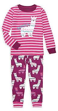 Hatley Little Girl's & Girl's Adorable Alpaca Two-Piece Pajama Set